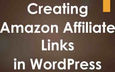 Creating Amazon Affiliate Links in WordPress