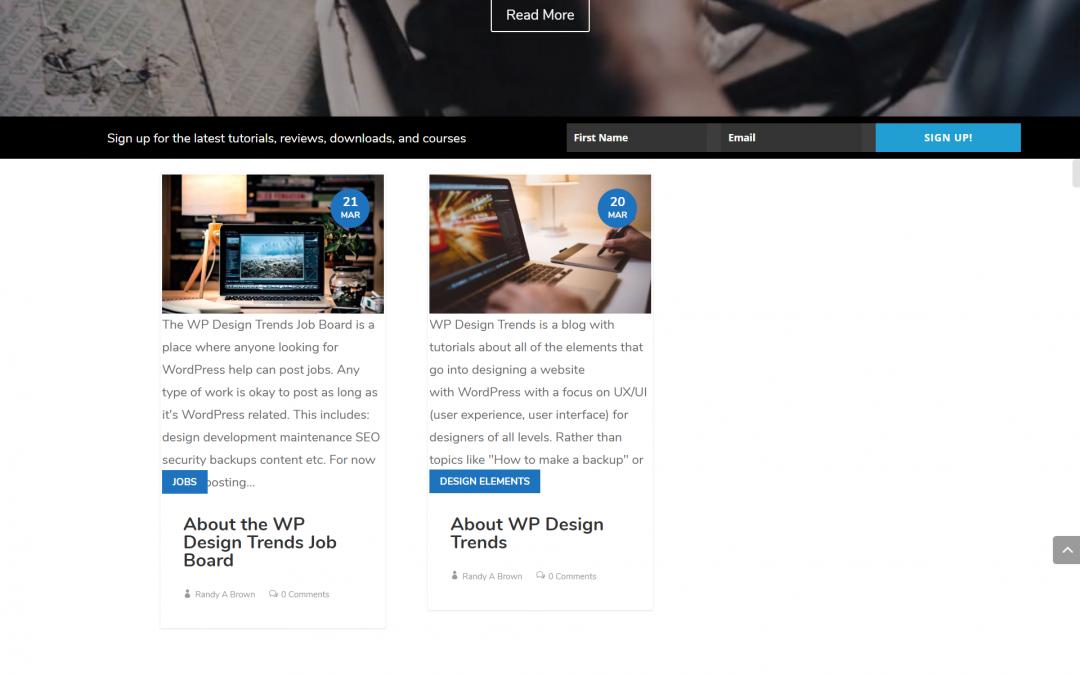 WP Design Trends